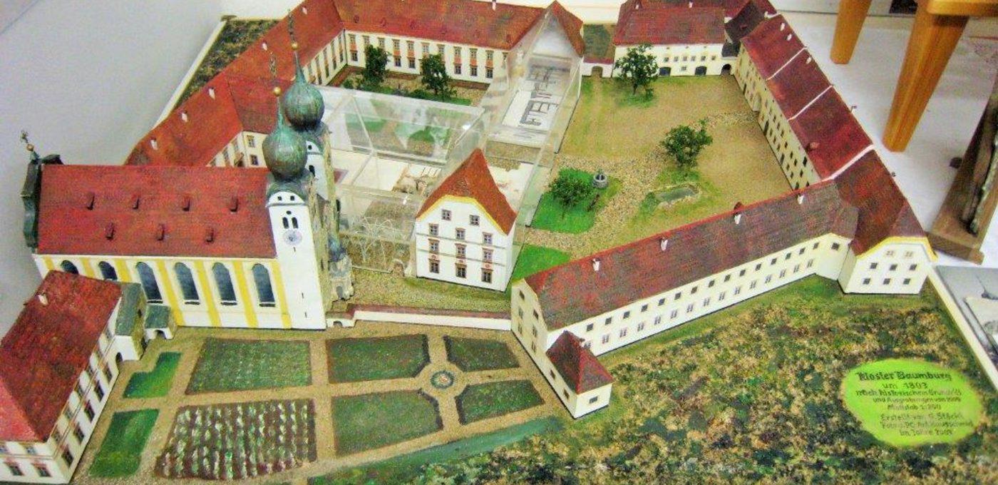 Modell des ehemaligen Augustiner-Chorherrenstifts Baumburg