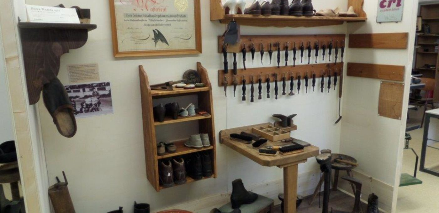Schusterwerkstatt im Heimatmuseum